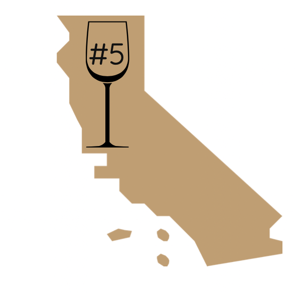 fifth best winery in california award