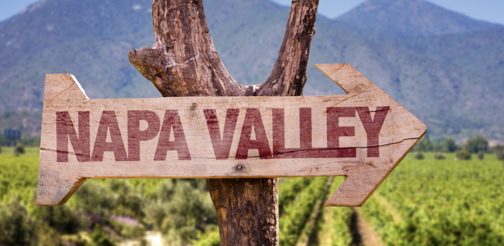 sign pointing to Napa Valley
